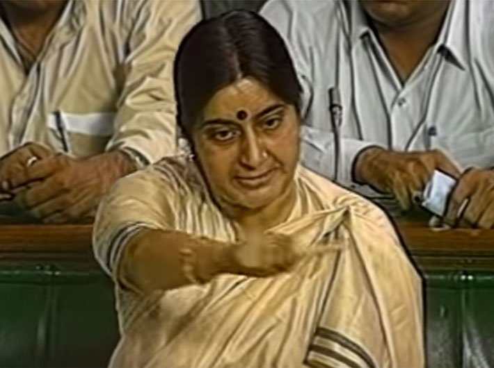 Sushma Swaraj's spirited 'secularism' speech will be long remembered