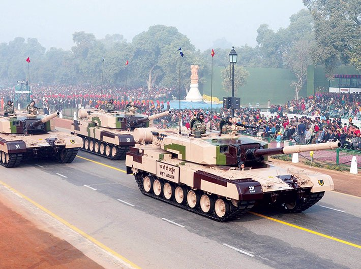 The MBT Arjun during full dress rehearsal for the Republic Day Parade 2010.