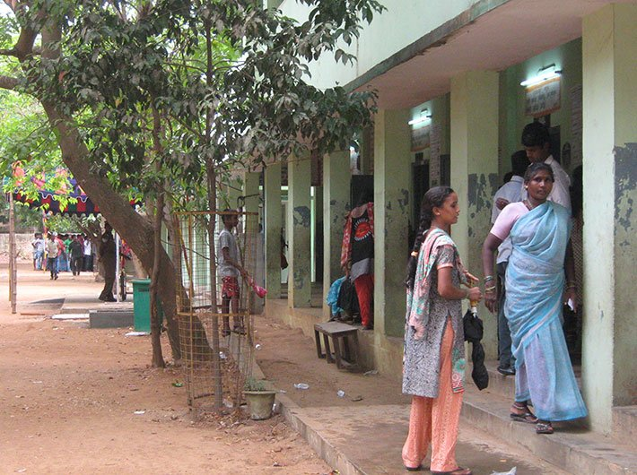 Cantonment Board High School in Chennai South constituency.