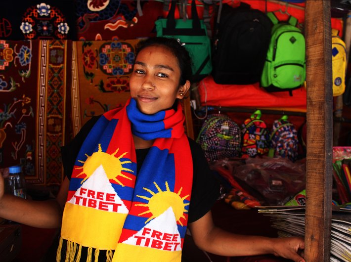 "Sunita (31) was born in India and her parents owe a lot to the country. She is part of the group ""Students for a free Tibet"" which works for the Tibetan people in their struggle for freedom and independence."