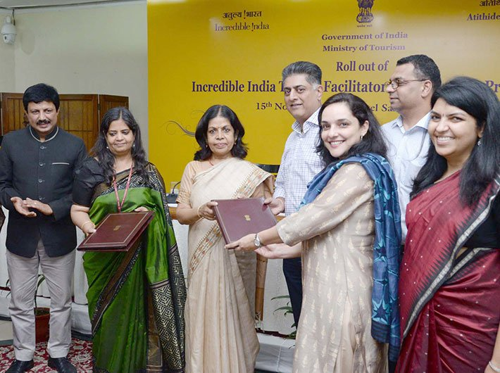 The secretary, ministry of tourism, Rashmi Verma at the roll out of the Incredible India Tourist Facilitator Certification (IITFC) Programme, in New Delhi