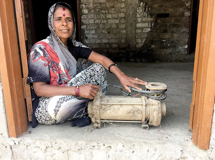 Mangubai of Malibarodiya village, who bought herself a water pump