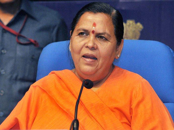Union minister Uma Bharti