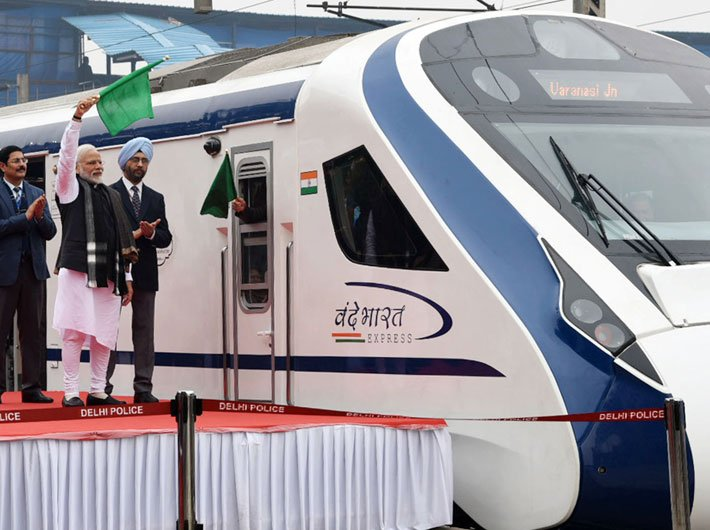 PM flags off India's first semi high-speed train