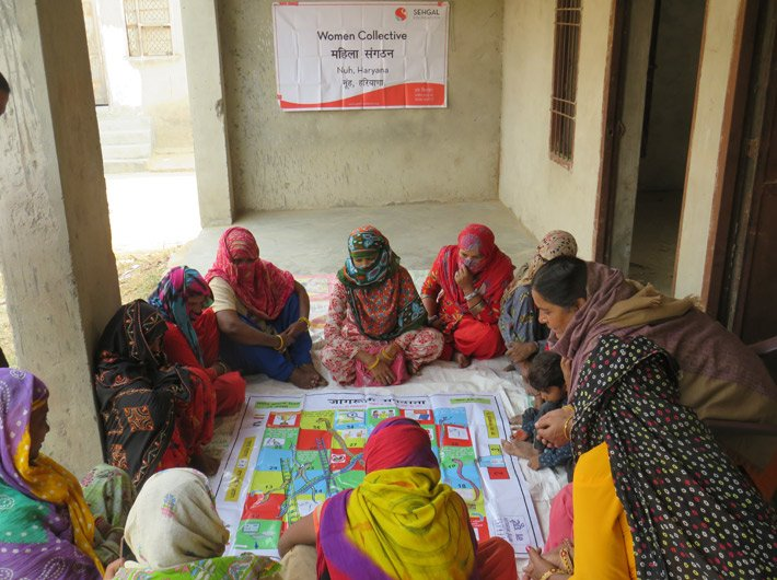 Creating awareness through games and play in Nuh district of Haryana (Photo courtesy: S M Sehgal Foundation)