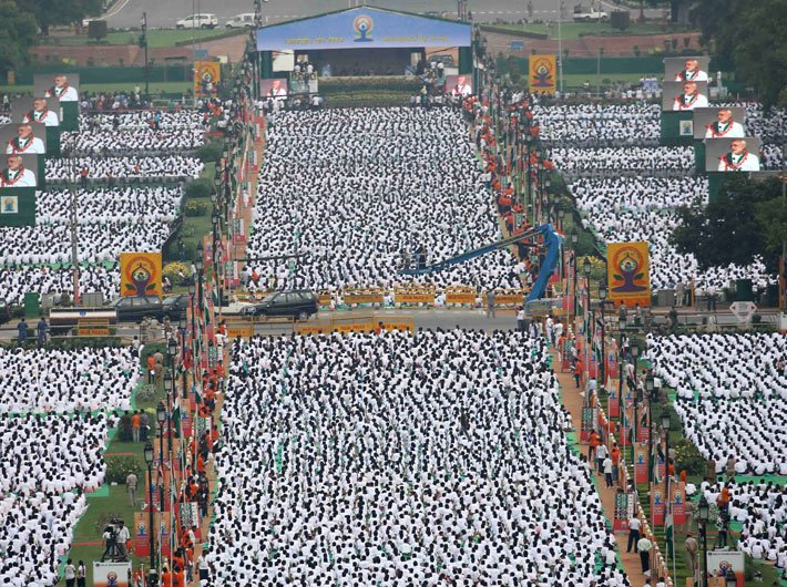 International Yoga Day at Rajpath